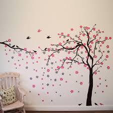 wall designs bedroom wall floral blossom tree wall
