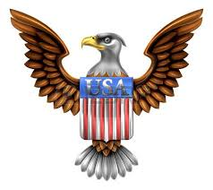 gold golden metal eagle design with bald eagle of the