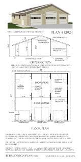 3 car monitor garage with loft plan 1600 1 by behm design