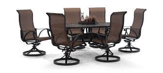 Patio 7 Piece Dining Set - 7 piece patio dining set with swivel chairs patio decoration