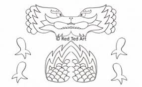 chinese craft dragon puppet printable