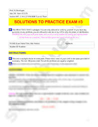 solutions to practice exam 3 fall 09 pdf statistics 201 with