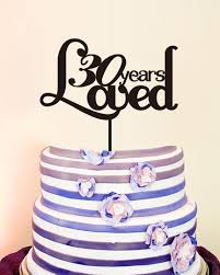 30 years loved custom wedding decoration modern toppers acrylic