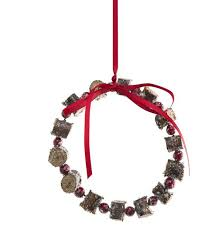 sia decoration hanging wreath with ribbon brown