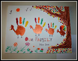 children turkey family of handprint turkeys all things
