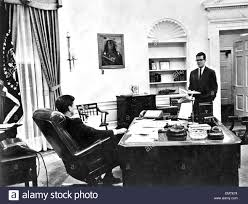 john f kennedy us president in the white house oval office with