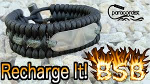 fire survival bracelet images Bsb fire bracelet recharge not how to make paracord bracelet jpg