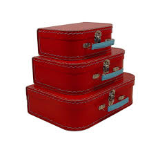 amazon com cargo vintage travelers mini suitcases set of 3 soft