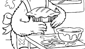 sesame street elmo cake coloring pages free coloring pages for kids