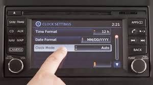 2017 nissan versa sedan setting the clock youtube
