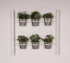 amazon com groves indoor herb garden hanging 6 pot wall planter