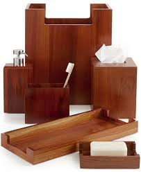 Macy S Bed And Bath Closeout Hotel Collection Teak Wood Bath Accessories Created For