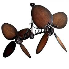 Two Bladed Ceiling Fans by Twin Star Iii Double Ceiling Fan Oiled Bronze With 13 Blade Options