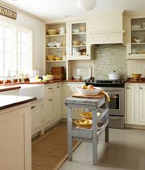 country kitchen design plan for small space with cute grey island