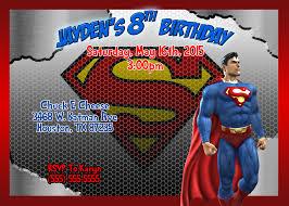 superman birthday invitations kustom kreations
