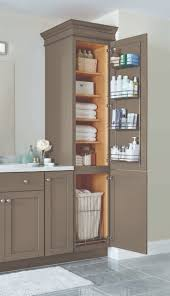 bathrooms cabinets ideas a linen closet with four adjustable shelves a chrome door rack