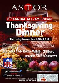 5th annual thanksgiving dinner all you can eat wine astor