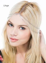 boho headband hc 076 bejeweled boho chain boho headband wedding headpiece