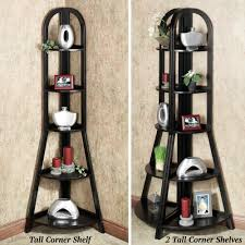 Corner Ladder Bookcase Swish Black Painted Corner Ladder Shelf As Display Storage As Well