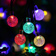 Solar Powered String Lights Patio by Multi Color 30 Led Crystal Ball String Lights Solar Powered