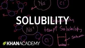 solubility and intermolecular forces chemistry khan academy