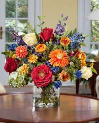 Artificial Flower Bouquets Mutli Colored Silk Flowers Lifelike Artificial Floral Bouquets