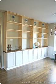 Built In Kitchen Cabinets Diy Built In Bookcases Dining Room Turned Library Diy