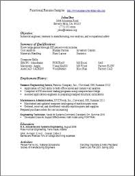 Scannable Resume Template 22 Sample Of A Functional Resume Pics Photos Functional Resume
