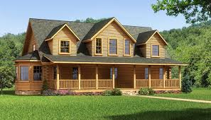 Log Homes Floor Plans With Pictures by The Lawrenceburg