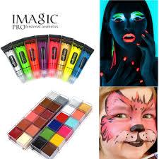 halloween makeup set makeup pigment oil paint art kit new arrival uv glow neon body