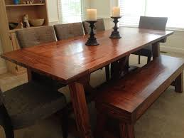 4x4 truss dining room table and bench diy projects
