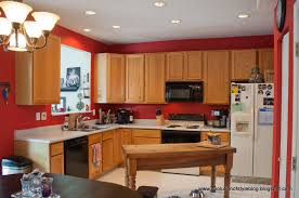 enchanting kitchen colors with wood cabinets including color pink