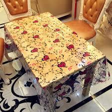 nappe cuisine plastique maison de luxe table tissu transparent pvc cuisine nappes pour