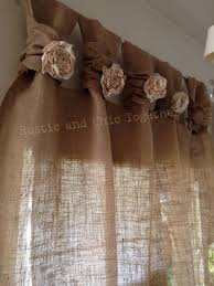 Country Rustic Curtains Best 25 Burlap Valance Ideas On Pinterest Burlap Curtains