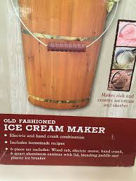Kitchen Crank Recipe Red Shed Old Fashioned Ice Cream Maker 6 Qt Electric Or Hand