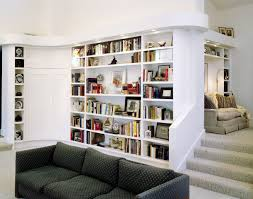 nice natural wooden home library bookcases that can add the beauty