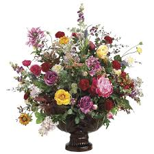 Fake Flower Arrangements Huge Silk Flower Centerpiece From Certain Style Flowers