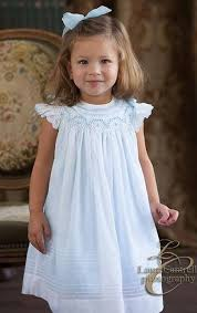 will beth smocked dress in blue with white overlay heirloom