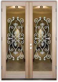 Ornate Interior Doors Corazones Interior Doors With Glass Etching Tuscan Style