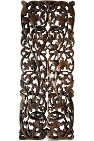 floral wood carved wall panel wood wall decor for sale u2013 asiana