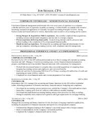 controller resume exle sle financial controller resume professional financial and