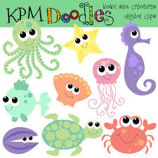 sea creatures clip art clip art library