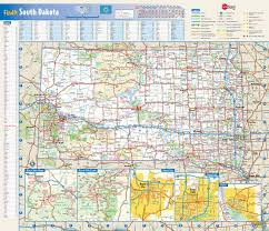 Highway Map Of Usa Large Detailed Roads And Highways Map Of South Dakota State With
