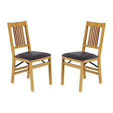 stakmore true mission wood folding chairs set of 2 bed bath