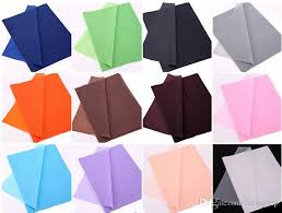 tissue wrapping paper hot seller 50 sheets chromatic tissue paper wedding 75 50 cm gift