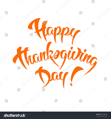 happy thanksgiving day calligraphy design template stock vector