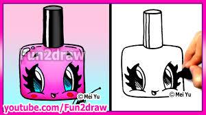 how to draw easy cartoons nail polish tutorial cute stylish