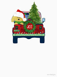 jeep christmas stocking cute christmas goldendoodle jeep bringing home tree unisex t shirt