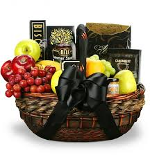 sympathy food baskets in their honor fruit and gourmet basket food fruit