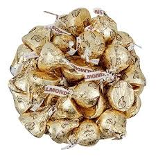 hershey kisses almond wrapped chocolates almonds
